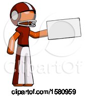 Orange Football Player Man Holding Large Envelope