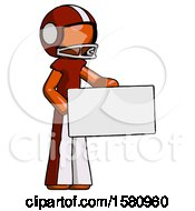 Orange Football Player Man Presenting Large Envelope