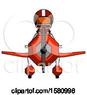 Poster, Art Print Of Orange Football Player Man In Geebee Stunt Plane Front View