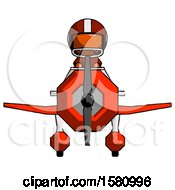 Orange Football Player Man In Geebee Stunt Plane Front View