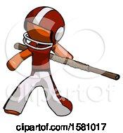 Orange Football Player Man Bo Staff Action Hero Kung Fu Pose