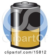 Black And Gold D Battery Clipart Illustrations