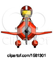 Yellow Football Player Man In Geebee Stunt Plane Front View