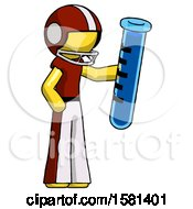 Yellow Football Player Man Holding Large Test Tube
