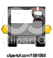 White Football Player Man Driving Amphibious Tracked Vehicle Front View
