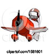 White Football Player Man Flying In Geebee Stunt Plane Viewed From Below
