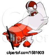 White Football Player Man In Geebee Stunt Plane Descending View