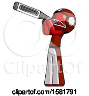 Red Football Player Man Thermometer In Mouth