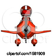 Red Football Player Man In Geebee Stunt Plane Front View