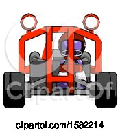 Purple Football Player Man Riding Sports Buggy Front View