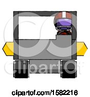Purple Football Player Man Driving Amphibious Tracked Vehicle Front View