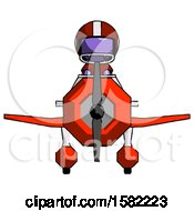 Purple Football Player Man In Geebee Stunt Plane Front View