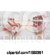 Poster, Art Print Of 3d And Sketched Gym Interior