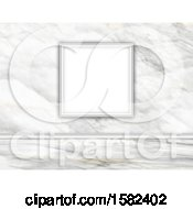 Clipart Of A 3d Blank Frame On A Marble Wall Royalty Free Illustration