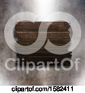 Poster, Art Print Of 3d Wooden Sign On A Metal Wall