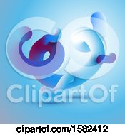 Poster, Art Print Of Abstract Motion Background With 3d Fluid Shapes