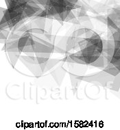 Clipart Of A Grayscale Connections And Geometric Background Royalty Free Vector Illustration