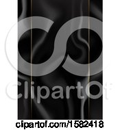 Clipart Of A Black Marble Background With Gold Panel Lines Royalty Free Vector Illustration