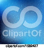 Clipart Of A Blue Halftone Dots Background Royalty Free Vector Illustration