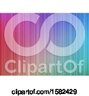 Clipart Of A Colorful Stripes Background Royalty Free Vector Illustration