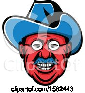 Clipart Of A Mascot Of Theodore Roosevelt Royalty Free Vector Illustration by patrimonio