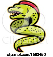 Clipart Of A Tough Moray Eel Royalty Free Vector Illustration by patrimonio