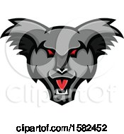 Clipart Of A Tough Koala Mascot Face Royalty Free Vector Illustration by patrimonio