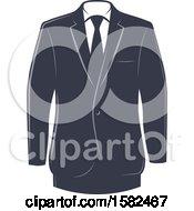 Clipart Of A Retro Tuxedo Design Royalty Free Vector Illustration