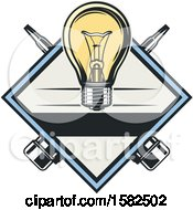 Poster, Art Print Of Diamond With A Lightbulb And Pliers