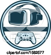 Clipart Of A Video Game Design Royalty Free Vector Illustration