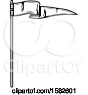 Poster, Art Print Of Black And White Pennant Flag