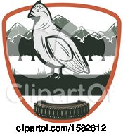 Clipart Of A Bird In A Shield With Ammo Royalty Free Vector Illustration by Vector Tradition SM