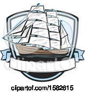 Clipart Of A Ship Royalty Free Vector Illustration by Vector Tradition SM