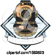 Clipart Of A Diving Helmet Royalty Free Vector Illustration