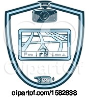 Poster, Art Print Of Gps Navigation Shield