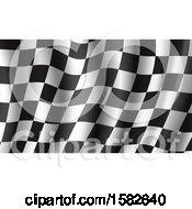 Poster, Art Print Of Waving Racing Flag Background