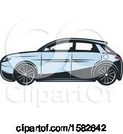 Poster, Art Print Of Blue Hybrid Car