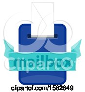 Clipart Of A Mailbox With An Envelope Royalty Free Vector Illustration by Vector Tradition SM