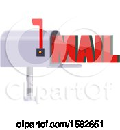 Clipart Of A Mailbox With Text Royalty Free Vector Illustration