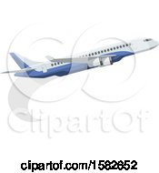 Clipart Of A Commercial Airplane Royalty Free Vector Illustration