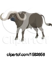 Clipart Of A Water Buffalo Royalty Free Vector Illustration by Vector Tradition SM