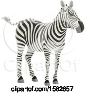 Clipart Of A Zebra Royalty Free Vector Illustration by Vector Tradition SM
