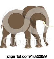 Clipart Of A Walking Elephant Royalty Free Vector Illustration by Vector Tradition SM