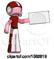 Pink Football Player Man Holding Large Envelope