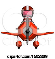 Pink Football Player Man In Geebee Stunt Plane Front View