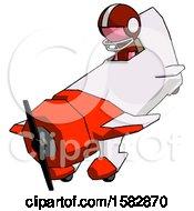 Pink Football Player Man In Geebee Stunt Plane Descending View