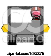 Pink Football Player Man Driving Amphibious Tracked Vehicle Front View