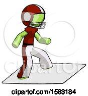 Green Football Player Man On Postage Envelope Surfing