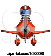 Blue Football Player Man In Geebee Stunt Plane Front View