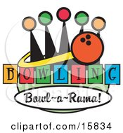 Bowling Ball On A Sign Clipart Illustration by Andy Nortnik #COLLC15834-0031